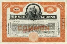 Moon Motor Car 1928 15 shs VF+.