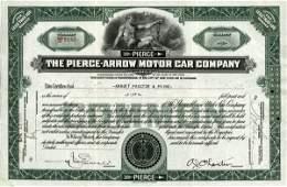 Pierce-Arrow Motor Car 1935 50 shs VF+.