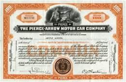 Pierce-Arrow Motor Car 1935 100 shs VF+.