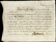 N. American Land 1795 5 shs VF+.