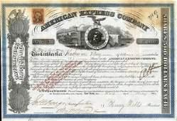American Express 1866 Type V 5 shs VF