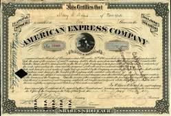 American Express 1887 Type VI 10 shs VF