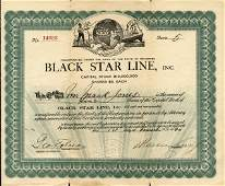 Black Star Line 1920 10 shs VF