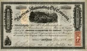 American Illuminating Oil 1865 100 shs VF