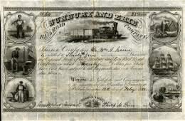 Sunbury & Erie RR 1853 35 shs VF