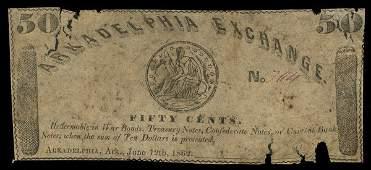 AR Arkadelphia Arkadelphia Exchange 50c 1862