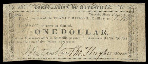 AR Batesville Corp of Town of Batesville $1 1842