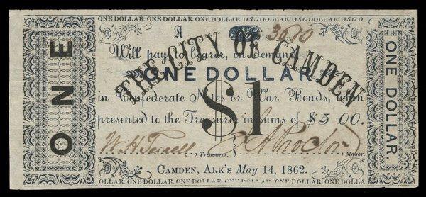 AR Camden City of Camden $1 1862