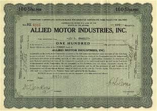 Allied Motor Industries 1931 100 shs VF+