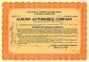 Auburn Automobile 1930 2/50 sh VF+
