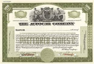 Group of Autocar Certificates (4)