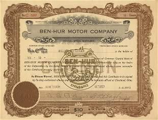 Ben-Hur Motor 1916 10 shs VF