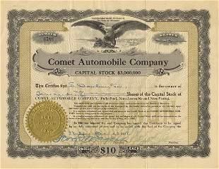Comet Automobile 918 10 shs VF