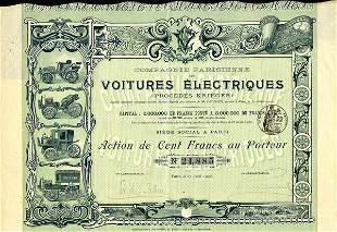 Co. Francaise De Voitures Electriques 1905