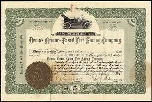 Demas Armor-Cased Tire Saving 1919 10 shs