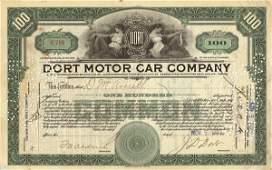 Dort Motor Car 1923 100 shs VF