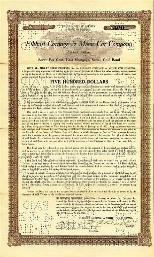 Elkhart Carriage & Motor Car 1921 $500