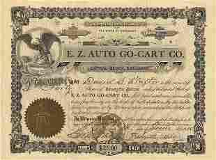E.Z. Auto Go Cart 1910 40 shs VF
