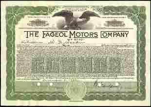 Fageol Motors of Ohio 1931 1 sh VF+