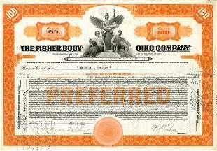 Fisher Body Certifcate Trio (3)