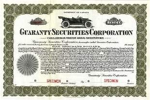 Guaranty Securities Specimen $5000 EF