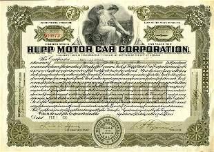 Hupp Motor Car 1930 1 sh VF