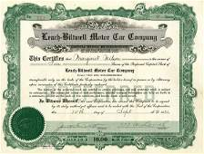 Leach-Biltwell Motor Car 1921 10 shs VF+