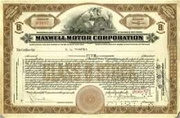 Maxwell Motor 1931 5 shs VF