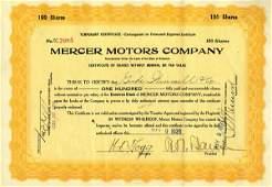 Merecer Motors 1921 100 shs VF+