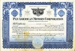 Pan-American Motors 1920 20 shs VF