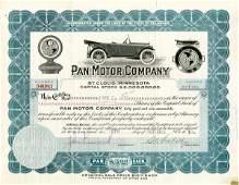 Pan Motor 1918 15 shs VF+