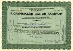 Rickenbacker Motor 1926 20 shs VF