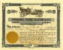 Spring Tire 1912 500 shs VF