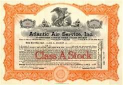 Atlantic Air Service 1929 10 shs VF+