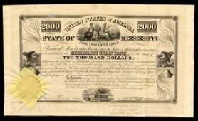 MS Union Bank 1838 $2000 VF
