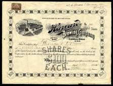 Harvard Brewing 1901 10 shs VF