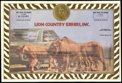 Lion Country Safari Certificate Trio (3)