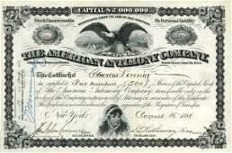 American Antimony 1881 500 shs VF+