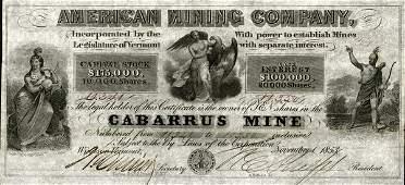 American Mining 1853 10 shs VF+