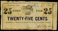 AL. Princeton. A.S. Sydney. 25¢. June 30, 1862.