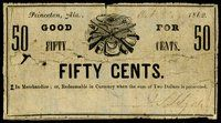AL. Princeton. A.S. Sydney. 50¢. Oct. 8, 1862.