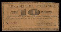AR. Arkadelphia. Arkadelphia Exchange. 10¢ 1862