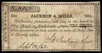 AR. Dardanelle. Jackson & Mills. 10¢. 1862