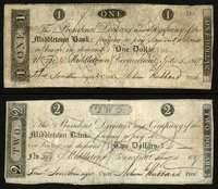 CT. Middletown. Middletown Bank Counterfeit Trio.