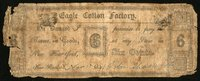 CT New-Hartford Eagle Cotton Factory 6¢ Nov. 17 1841