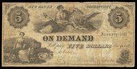 CT. New Haven. H John Smith. $5. January 1 1861
