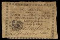 CT. New-London. Union Bank. 4¢. Dec. 5, 1814