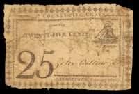 DC. Georgetown. Peter Cattino & Co. 25¢. February 1816