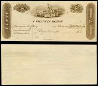 DC. Georgetown. I Francis Dodge. $50. 1840s