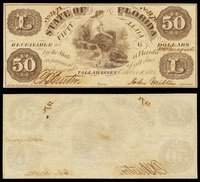 FL Tallahassee State of Florida $50 October 10, 1861